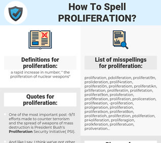 proliferation, spellcheck proliferation, how to spell proliferation, how do you spell proliferation, correct spelling for proliferation