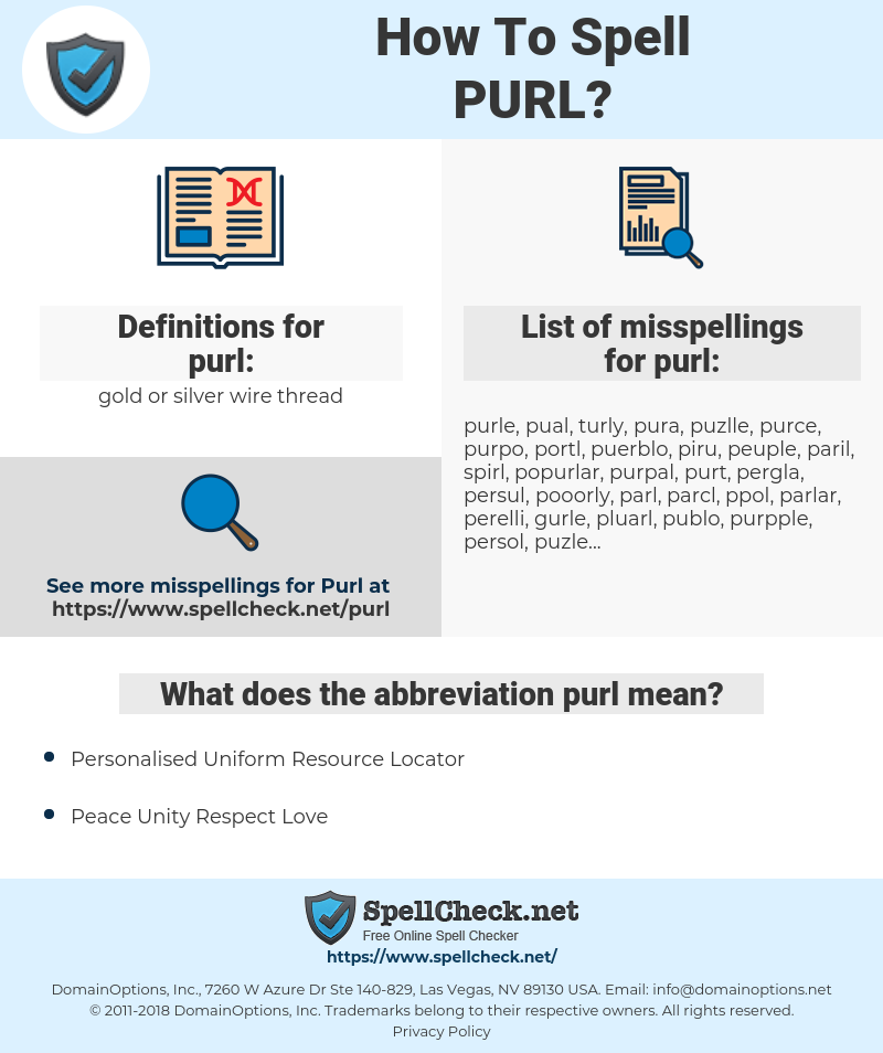 purl, spellcheck purl, how to spell purl, how do you spell purl, correct spelling for purl