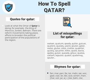 qatar, spellcheck qatar, how to spell qatar, how do you spell qatar, correct spelling for qatar