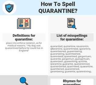 quarantine, spellcheck quarantine, how to spell quarantine, how do you spell quarantine, correct spelling for quarantine