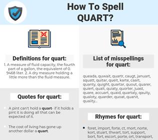 quart, spellcheck quart, how to spell quart, how do you spell quart, correct spelling for quart