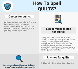 quilts, spellcheck quilts, how to spell quilts, how do you spell quilts, correct spelling for quilts