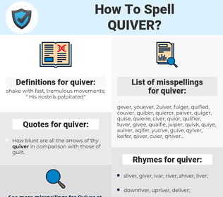 quiver, spellcheck quiver, how to spell quiver, how do you spell quiver, correct spelling for quiver