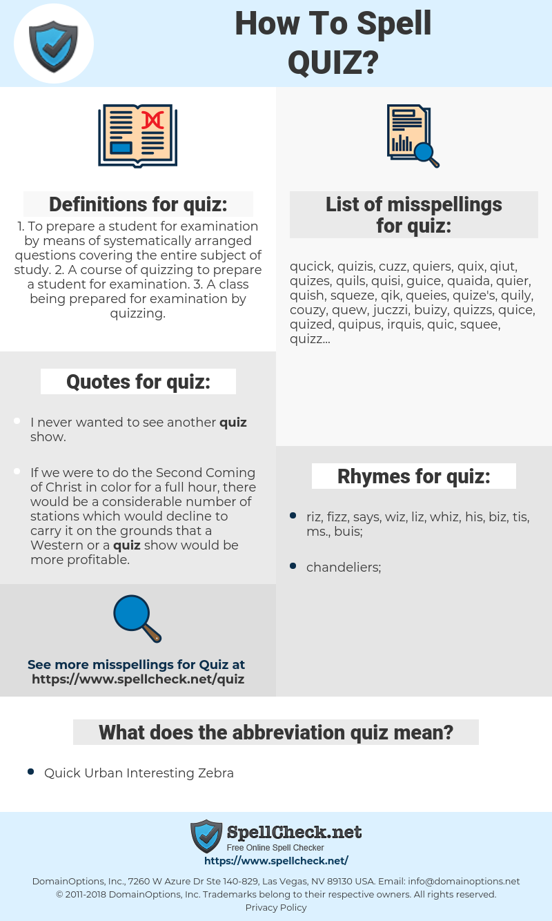 quiz, spellcheck quiz, how to spell quiz, how do you spell quiz, correct spelling for quiz
