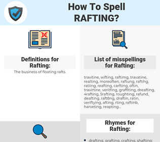 Rafting, spellcheck Rafting, how to spell Rafting, how do you spell Rafting, correct spelling for Rafting