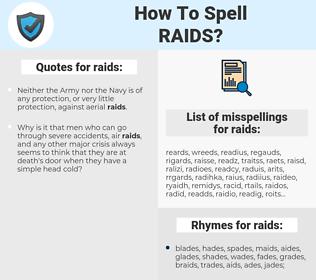 raids, spellcheck raids, how to spell raids, how do you spell raids, correct spelling for raids