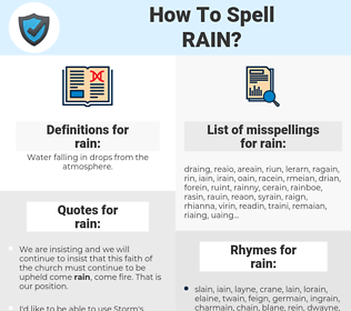 rain, spellcheck rain, how to spell rain, how do you spell rain, correct spelling for rain