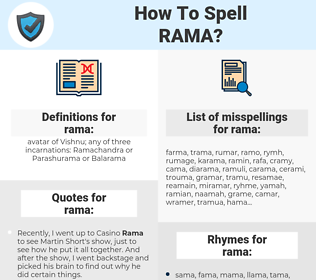 rama, spellcheck rama, how to spell rama, how do you spell rama, correct spelling for rama
