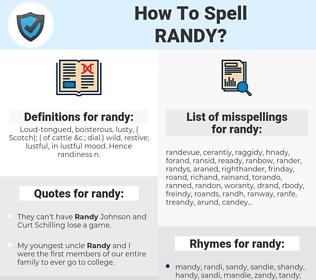 randy, spellcheck randy, how to spell randy, how do you spell randy, correct spelling for randy