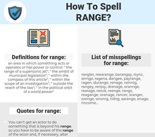 range, spellcheck range, how to spell range, how do you spell range, correct spelling for range