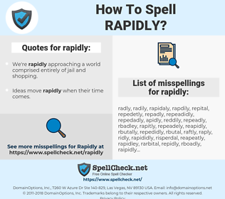 rapidly, spellcheck rapidly, how to spell rapidly, how do you spell rapidly, correct spelling for rapidly