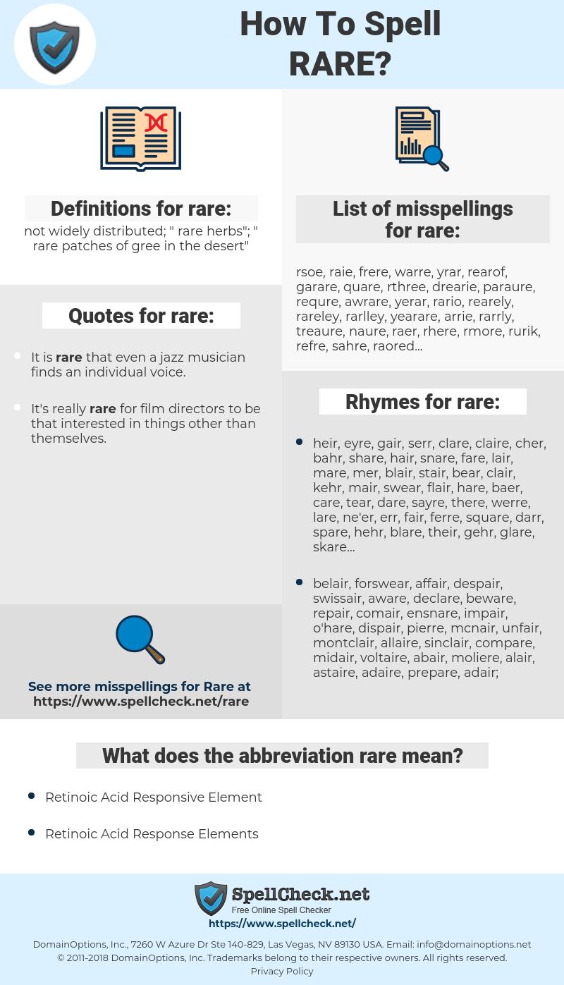 rare, spellcheck rare, how to spell rare, how do you spell rare, correct spelling for rare