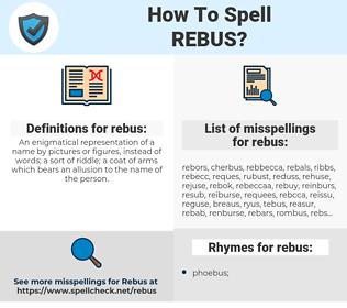 rebus, spellcheck rebus, how to spell rebus, how do you spell rebus, correct spelling for rebus