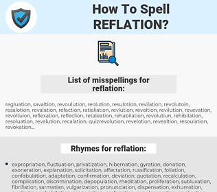 reflation, spellcheck reflation, how to spell reflation, how do you spell reflation, correct spelling for reflation