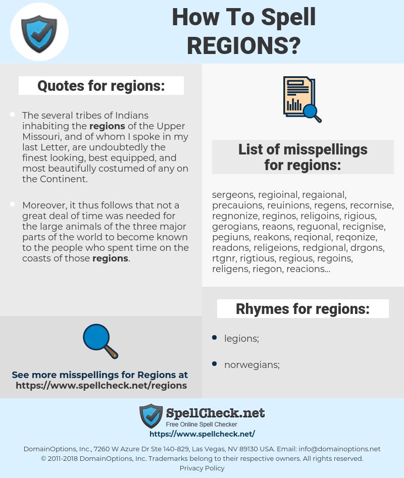 regions, spellcheck regions, how to spell regions, how do you spell regions, correct spelling for regions