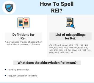Rei, spellcheck Rei, how to spell Rei, how do you spell Rei, correct spelling for Rei