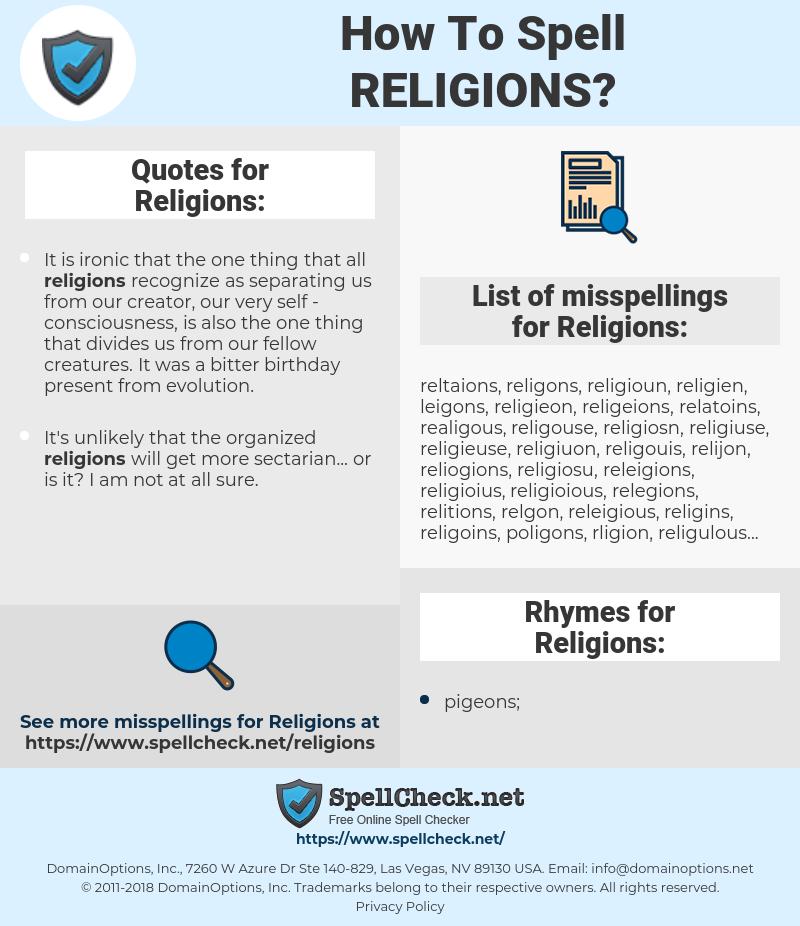 Religions, spellcheck Religions, how to spell Religions, how do you spell Religions, correct spelling for Religions
