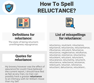 reluctance, spellcheck reluctance, how to spell reluctance, how do you spell reluctance, correct spelling for reluctance