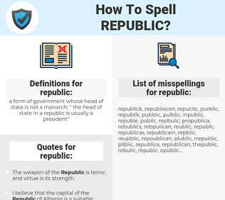 republic, spellcheck republic, how to spell republic, how do you spell republic, correct spelling for republic