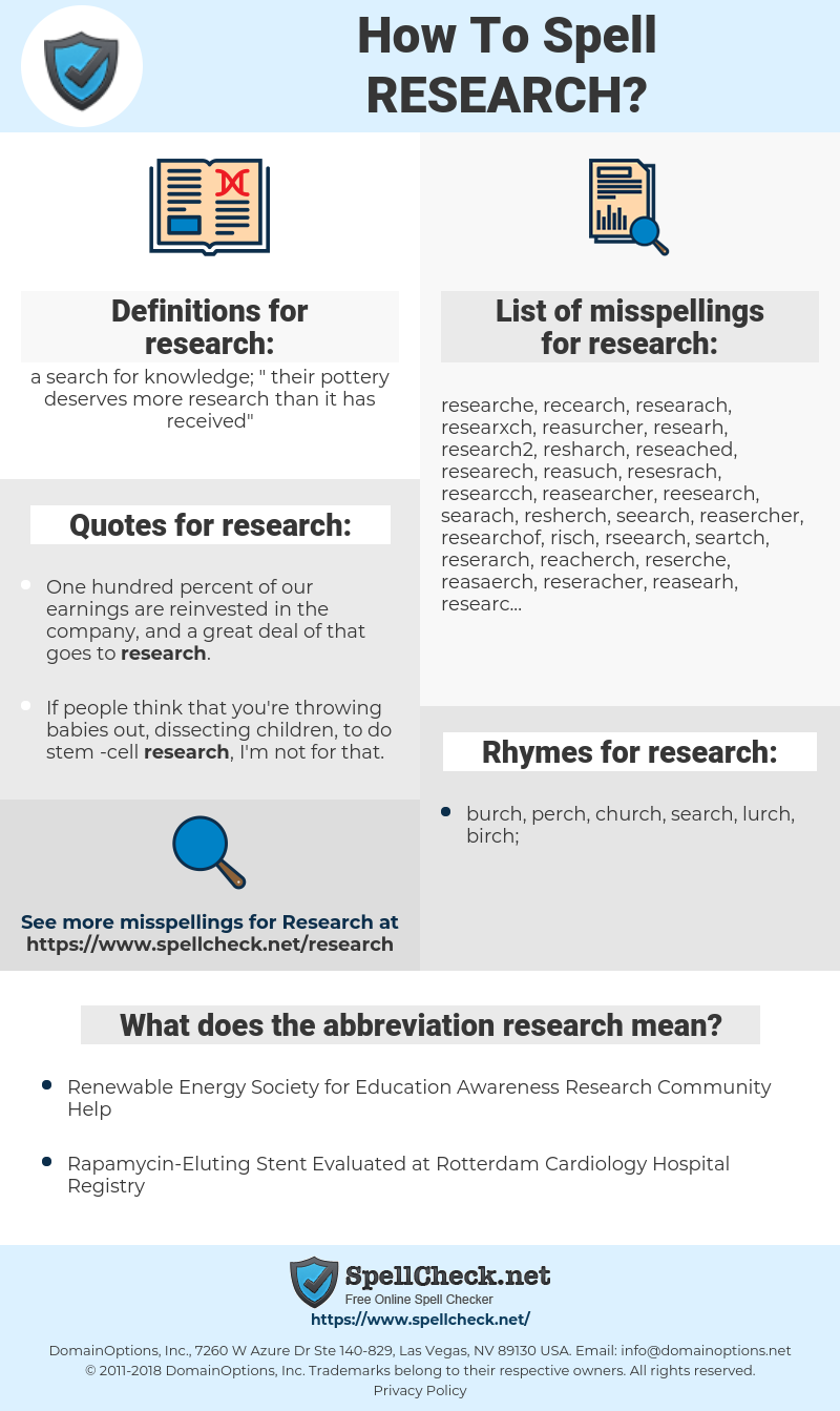 research, spellcheck research, how to spell research, how do you spell research, correct spelling for research
