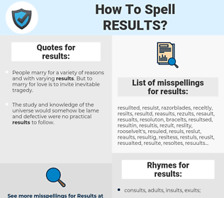 results, spellcheck results, how to spell results, how do you spell results, correct spelling for results