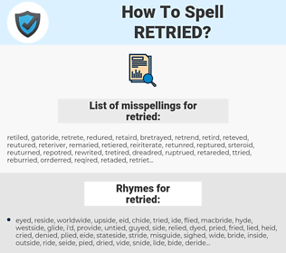 retried, spellcheck retried, how to spell retried, how do you spell retried, correct spelling for retried