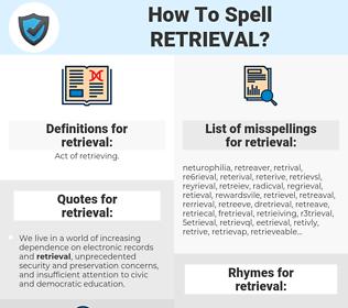 retrieval, spellcheck retrieval, how to spell retrieval, how do you spell retrieval, correct spelling for retrieval