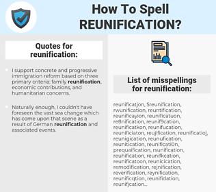 reunification, spellcheck reunification, how to spell reunification, how do you spell reunification, correct spelling for reunification