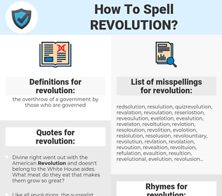 revolution, spellcheck revolution, how to spell revolution, how do you spell revolution, correct spelling for revolution