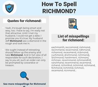 richmond, spellcheck richmond, how to spell richmond, how do you spell richmond, correct spelling for richmond