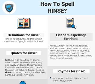 rinse, spellcheck rinse, how to spell rinse, how do you spell rinse, correct spelling for rinse