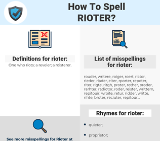 rioter, spellcheck rioter, how to spell rioter, how do you spell rioter, correct spelling for rioter