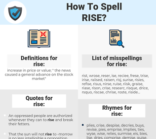 rise, spellcheck rise, how to spell rise, how do you spell rise, correct spelling for rise