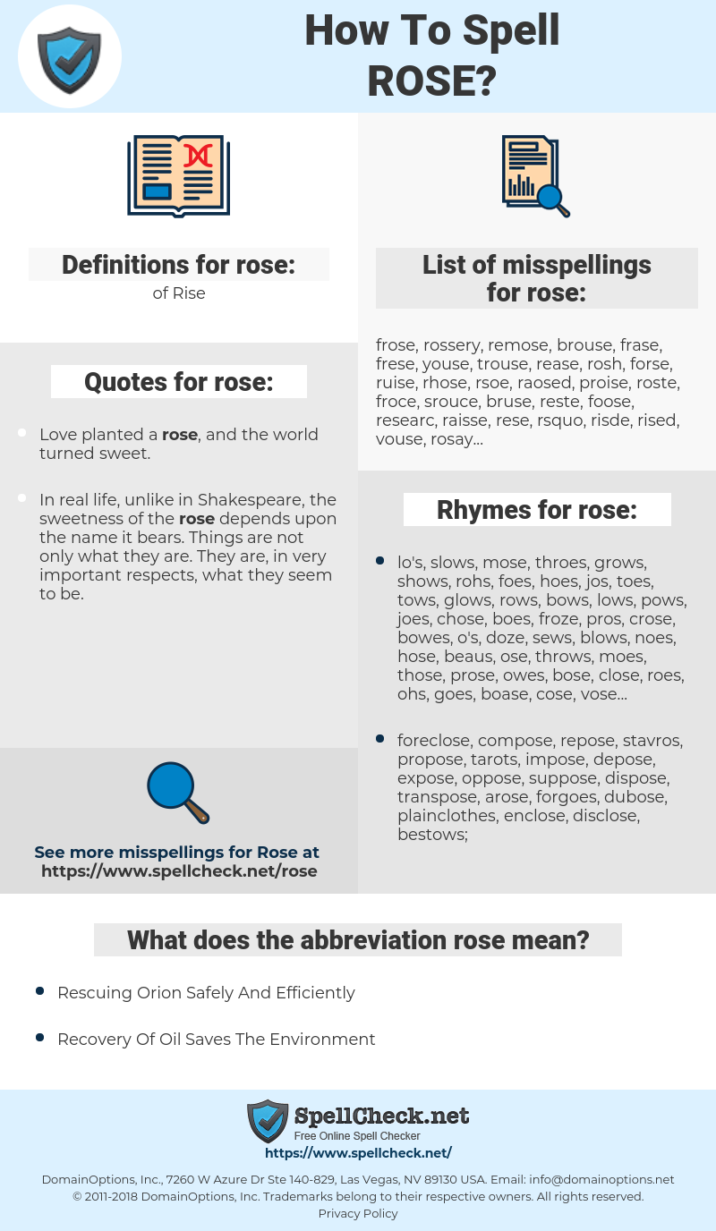 rose, spellcheck rose, how to spell rose, how do you spell rose, correct spelling for rose