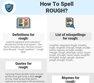 rough, spellcheck rough, how to spell rough, how do you spell rough, correct spelling for rough