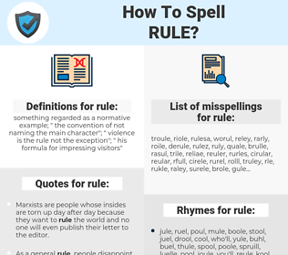 rule, spellcheck rule, how to spell rule, how do you spell rule, correct spelling for rule