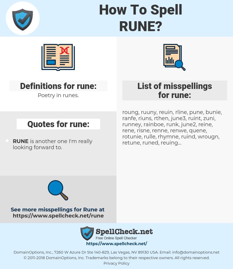 rune, spellcheck rune, how to spell rune, how do you spell rune, correct spelling for rune