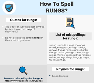 rungs, spellcheck rungs, how to spell rungs, how do you spell rungs, correct spelling for rungs