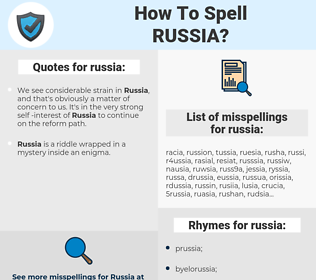 russia, spellcheck russia, how to spell russia, how do you spell russia, correct spelling for russia