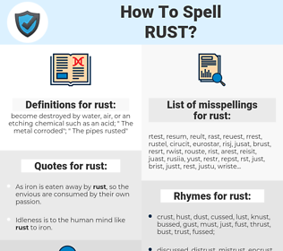rust, spellcheck rust, how to spell rust, how do you spell rust, correct spelling for rust