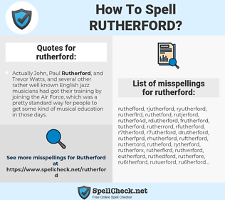 rutherford, spellcheck rutherford, how to spell rutherford, how do you spell rutherford, correct spelling for rutherford