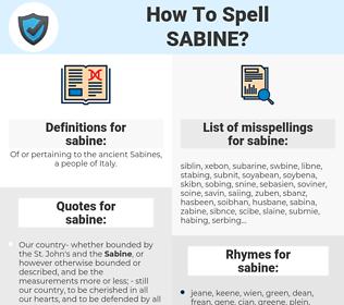 sabine, spellcheck sabine, how to spell sabine, how do you spell sabine, correct spelling for sabine