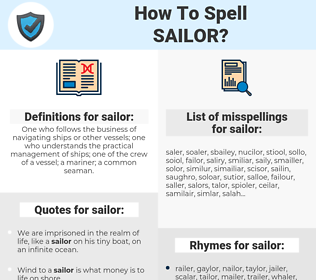 sailor, spellcheck sailor, how to spell sailor, how do you spell sailor, correct spelling for sailor