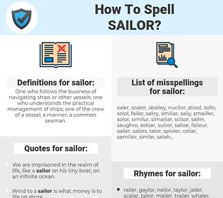 sailor, spellcheck sailor, how to spell sailor, how do you spell sailor, correct spelling for sailor