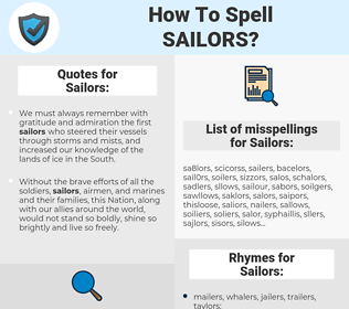 Sailors, spellcheck Sailors, how to spell Sailors, how do you spell Sailors, correct spelling for Sailors