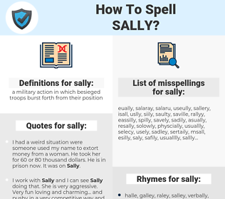 sally, spellcheck sally, how to spell sally, how do you spell sally, correct spelling for sally