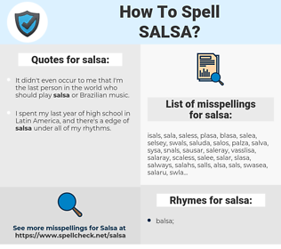salsa, spellcheck salsa, how to spell salsa, how do you spell salsa, correct spelling for salsa