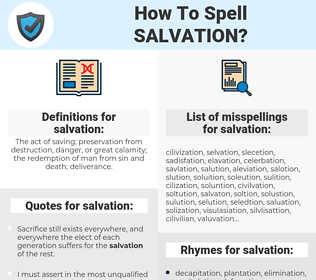 salvation, spellcheck salvation, how to spell salvation, how do you spell salvation, correct spelling for salvation