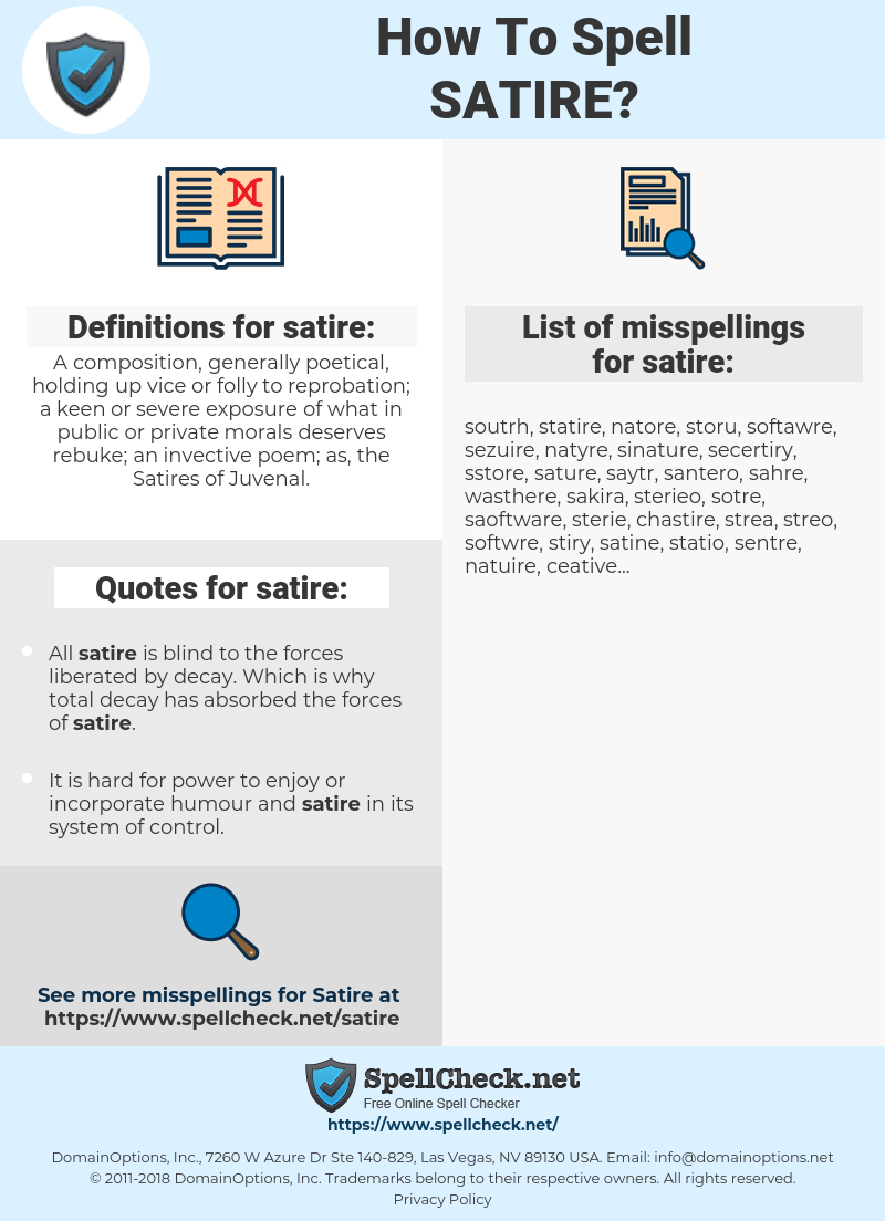 list of satires