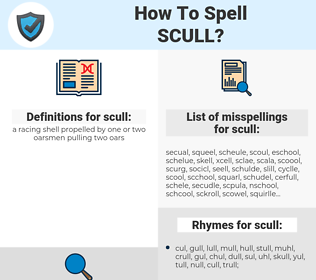 scull, spellcheck scull, how to spell scull, how do you spell scull, correct spelling for scull